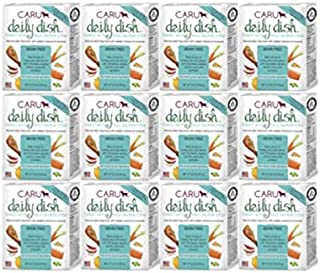 Caru Daily Dish Turkey with Wild Salmon Stew, Natural Adult Wet Dog Food with Real Chunks of Turkey and Wild Salmon, with Added Vitamins and Minerals, Non-GMO Ingredients (12.5 Oz) - 12 Pack