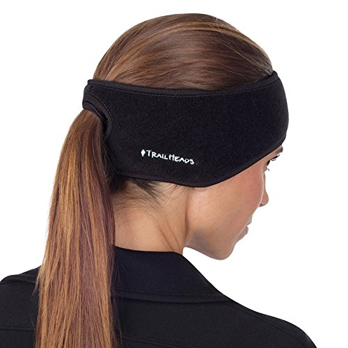 TrailHeads Women's Ponytail Headband – Black/Black