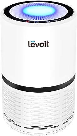 Levoit 空気清浄機 小型 脱臭 静音 タバコ 花粉?PM2.5対策 省エネ ホコリ除去 夜間ライト付き ホワイト LV-H132