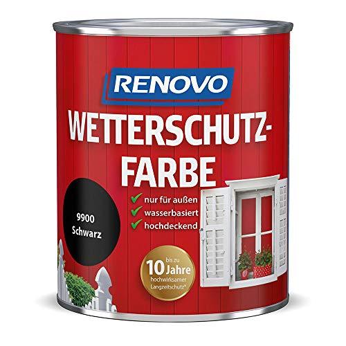 Renovo Wetterschutzfarbe 9900 schwarz 750 ml