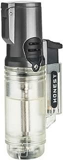 Torch Lighter, Triple 3 Jet Flame Lighter Refillable Gas Butane Lighter, Gift Package, Butane NOT Included (White)