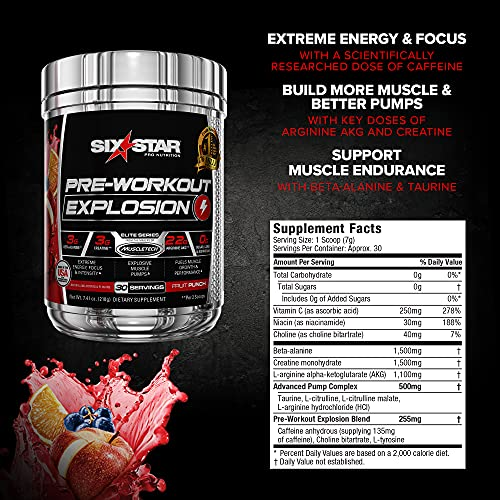 Six Star Pre-workout Energy Drink