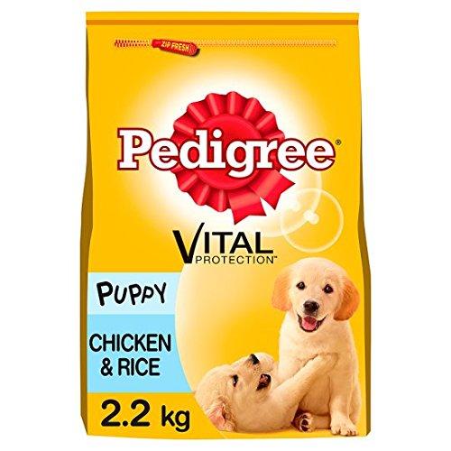 Pedigree Trockenfutter für Welpen, Huhn und Reis, 2,2 kg