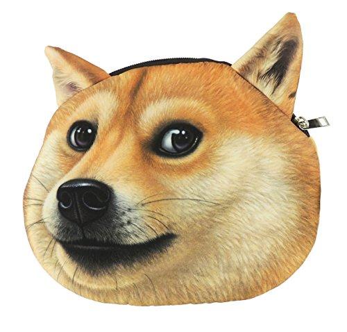 Schattige hond liefhebbers gezicht kleine munt veranderen portemonnee