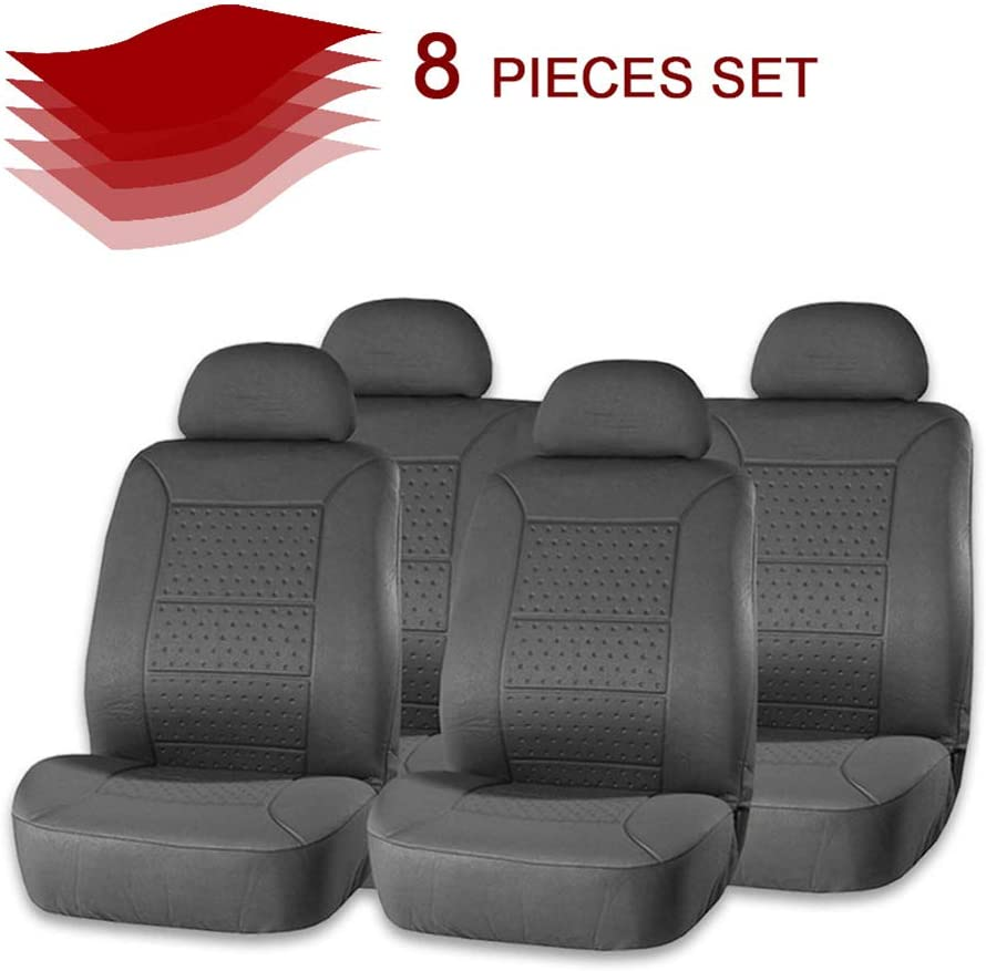 cciyu Gray Recommendation Embossed Cloth Max 79% OFF Car Seat Auto Cover Tw Covers Washable