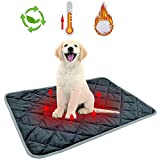 GZGZADMC Self Heating Blanket for Dogs & Cats, Animal Bed Warmer House Heater Heated Floor Mat, Whelping Supply for Pregnant New Born Pet(48x70CM)