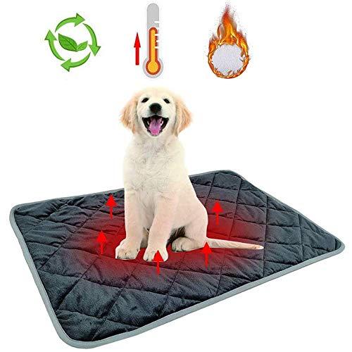 GZGZADMC Selbsterwärmende Decke für Hunde und Katzen, Tierbettwärmer, beheizte Bodenmatte, für schwangere Neugeborene (48 x 70 cm)