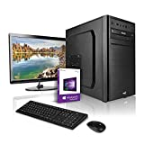 "Megaport PC Set Pentium Gold G5400 2x3.70GHz • Schermo LED 24"" • Tastiera/Mouse • 240GB SSD • 8GB DDR4-2400 RAM • Intel HD Graphics 610 • Windows 10 • DVD Brenner • WLAN Office PC"