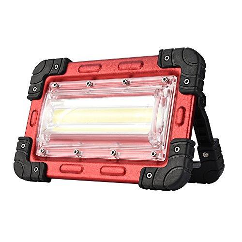 Proyector Lámpara Unicornio Luz de LED portátil Luz de camping COB Luz de 30 vatios Equivalente a 300 vatios Bombilla halógena Luz de trabajo recargable Luz de inundación LED Luz de linterna Tienda al