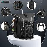 modernUP 3in1 Fahrradtasche - wasserdicht & reflektierend - als Gepäckträgertasche, Umhängetasche, Laptoptasche & Rucksack einsetzbar - inkl. Helm Aufbewahrungsnetz - (Schwarz, 27 Liter)