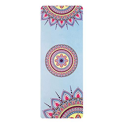 XYBB Tappetino Yoga Tappetino Fitness Rubber Folding Eco-Friendly Suede Color Printing Yoga Asciugamano 183 * 68 * 0.15cm Grigio Chiaro