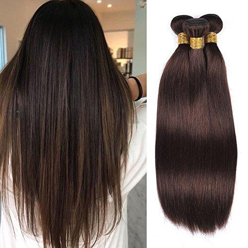 Moresoo 300gram Lisse Full Head Colour #2 Naturel de Haute Qualite Extensions de Cheveux Tissage Réel Remy Hair Tissage Bresilien Huamin Extensions (2