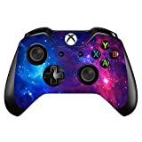 UUShop Vinyl Skin Sticker Decal Cover for Microsoft Xbox One Controller Remote - Purple Galaxy Starry Sky