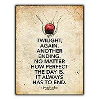 Twilight Saga Book 金属板ブリキ看板警告サイン注意サイン表示パネル情報サイン金属安全サイン