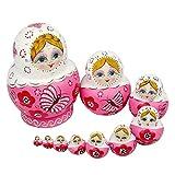 ikasus 10 muñecas rusas nidificadoras hechas a mano de madera de...
