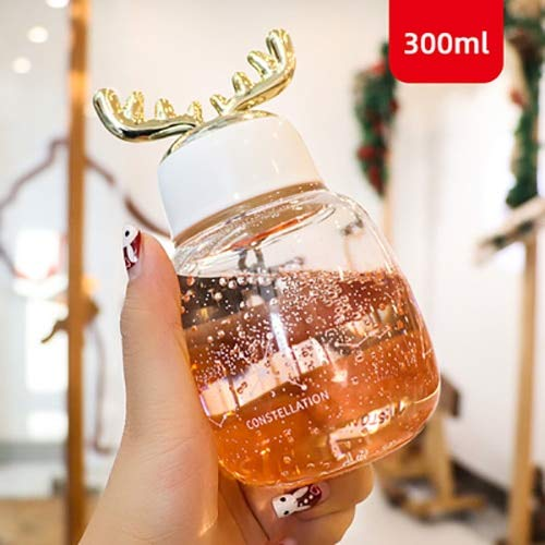 Taza de Navidad Transparente Doble Vidrio Anti-escaldado Árbol de Navidad Taza de Estrella Taza de café Taza de Jugo de Leche niños - Naranja, A3