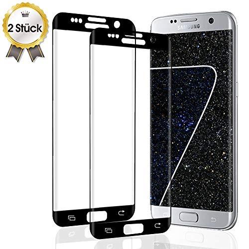 UNIY Panzerglas Schutzfolie für Samsung Galaxy S7 Edge [2 Stück], 9H Härte Displayschutzfolie [Anti-Kratzer] [Blasenfreie] [HD Klar] Panzerglasfolie Displayschutzfolie für Samsung S7 Edge