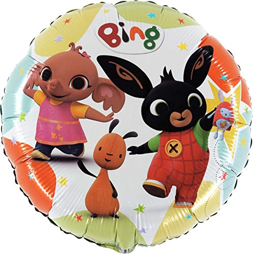 Anagram- Pallone Foil 18''-45 cm Bing & Friends-Non CONFEZIONATO, Multicolore, 7AL18033