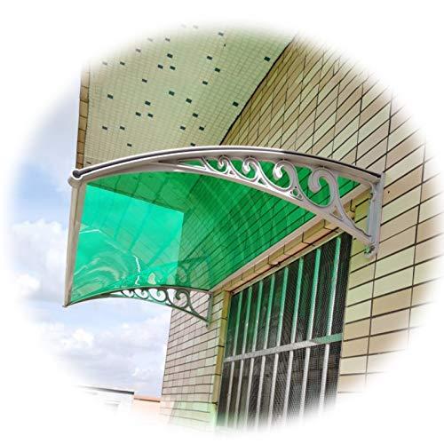 Marquesinapuertaexterior, Refugio Al Aire Libre De Patio Sólido De Policarbonato, Techos Combinados Modernos Para Lluvia Y La Nieve, 7 Tamaños Personalizable ( Color : Green , Size : 60X120CM )