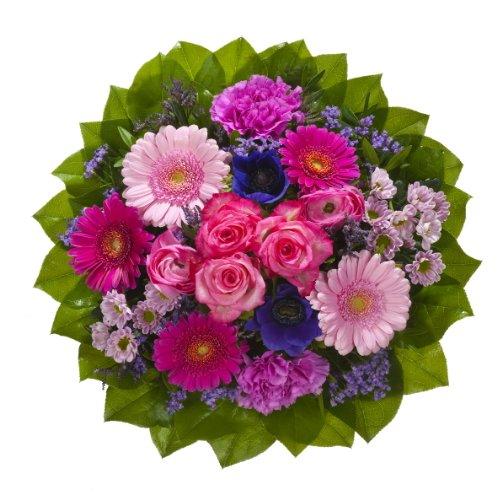 Dominik Blumen und Pflanzen, Blumenstrauß Magic mit Rosen, Gerbera, Anemonen, Nelken und Ranunkeln