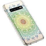 Uposao Samsung Galaxy S10 Plus Coque Silicone Transparente Motif Mandala Fleur Coloré Jolie Beau...