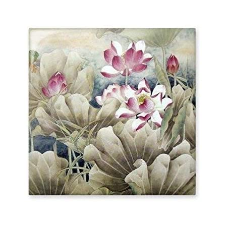 Pink White Lotus Bud Green Lotus Leaf Dragonfly Reed China Classical Painting Ceramic Bisque Tiles for Decorating Bathroom Decor Kitchen Ceramic Tiles Wall Tiles