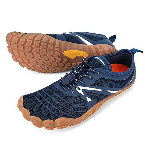 ALEADER Minimalist Running Shoes Mens Barefoot Five Fingers Toe Shoes Navy 10.5 M US Men