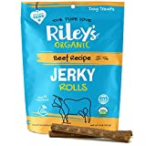 Riley's Organic Dog Jerky Treats - Beef Dog Training Treats - Organic - Soft Jerky Treats for Dogs - Easy Snap for Any Size Dog - 5 oz…