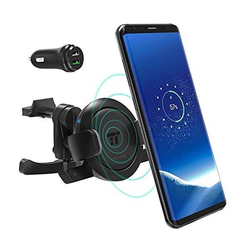 Handyhalterung Auto, TaoTronics Qi Wireless Ladestation und Handyhalter fürs Auto Universale Autohalterung Phone Halter für iPhone, Samsung,und andere Smartphones von 5.8 bis 9 cm