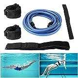 Buluri Cinturon Natacion, Cinturón de Natación Ajustable para Adultos y Niños, Swim Trainer Kit de Entrenamiento de Natación Estática para Piscina, con una Bolsa de Almacenamiento