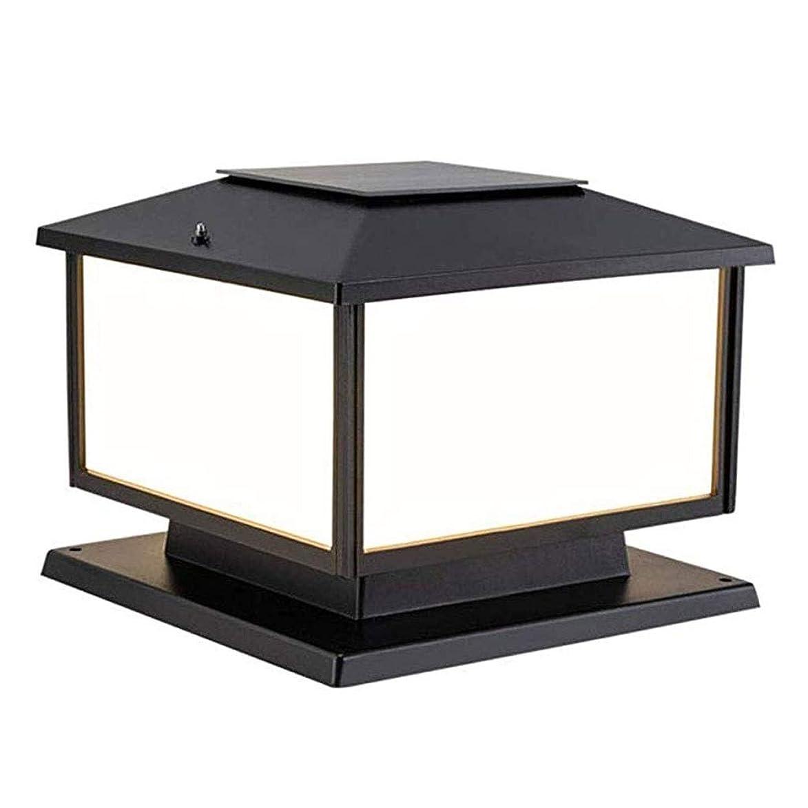 バレーボール極小怠けたゲート柱ソーラー屋外照明用外光、防水ガーデンライトスーパーブライトホーム三色の装飾(黒) (Color : ブラック, Size : 15.69×18.90in)