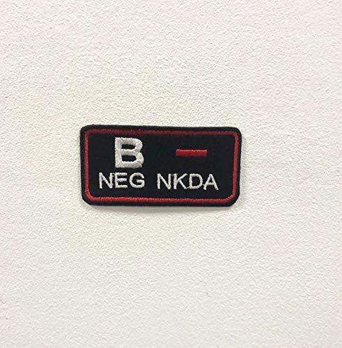 Parche bordado para planchar o coser con la marca B Negative NKDA