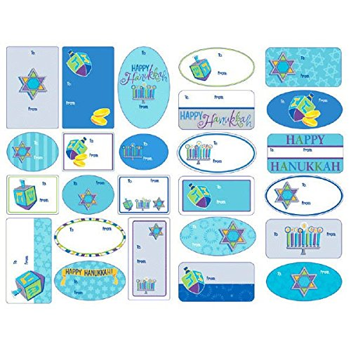 12 Premium Chanukah Sticker Packs Hanukkah Stickers Party Supplies Pack Party Favors, Decorations
