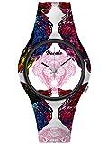 Doodle Watch D39011 Wild Mood - Reloj de pulsera, diseño de gato depredador, color blanco y rosa