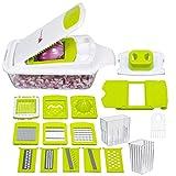 Bullstrong Zwiebelsalat Küchenhelfer und Gadgets, Gemüseschneider, Würfelschneider, 28,7 x 17 x 14,5 cm, Weiß / Grün*