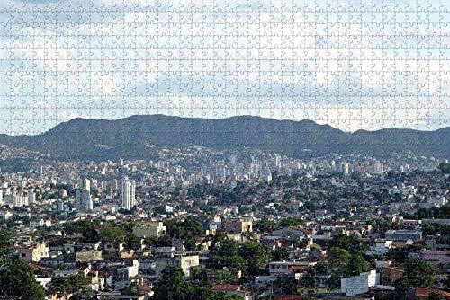 Rompecabezas para Adultos Belo Horizonte Brasil Puzzle 1000 Piezas Regalo de Recuerdo de Viaje de Madera