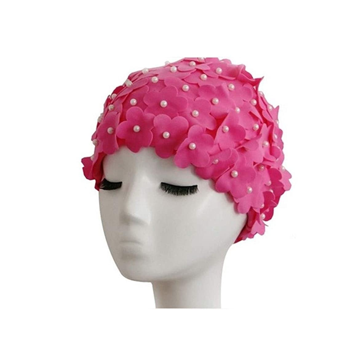 標高しゃがむ密度CXZA シャワーキャップ、女性のすべての髪の長さと厚さのためのレディースシャワーキャップデラックスパーソナリティシャワーキャップ - 防水やカビ耐性、再利用可能なシャワーキャップ。 (Color : 2)