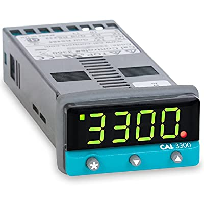 Cal Controls 330000000 Cal 3300 Series 1/32 DIN Temperature Controller, 100 to 240 VAC, SSR Driver and Relay Outputs