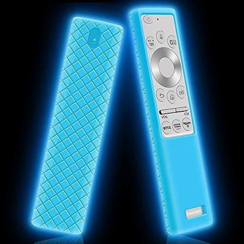 Funda de Silicona para Mando Samsung BN59-01311G BN59-01311B BN59-01265A BN59-01358B Antideslizante Carcasa de Protectora Compatible con Mando TV Samsung (Glow Blue)