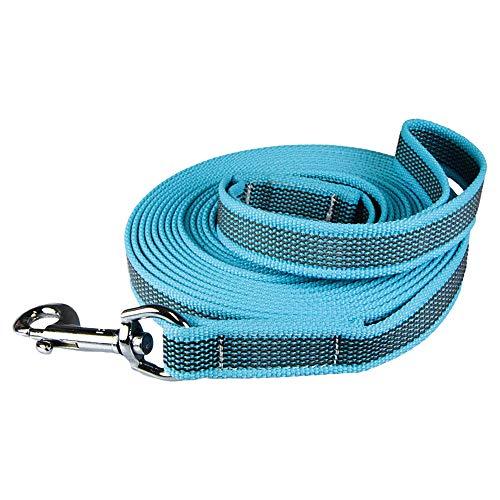 Schecker Grip Colour blau Rainbow Small Schleppleine mit Handschlaufe besonders rutschfest 5 m / 15 mm - alle Regenbogenfarben