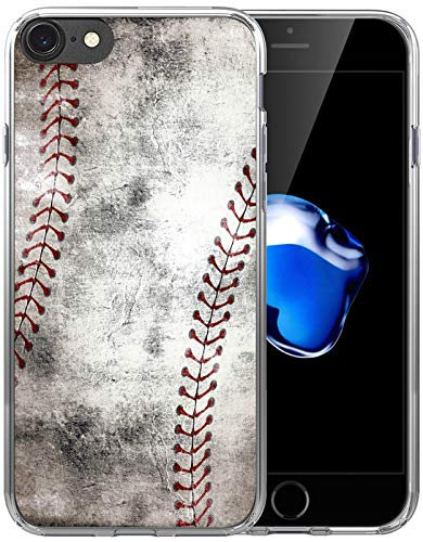 Case for iPhone SE 2020 & 7 & 8 / IWONE Cute Cool Rubber Durable Protective Skin Transparent Cover Patterned Compatible with iPhone 7/8/SE 2 Creative Vintage Baseball Art Pattern Printing