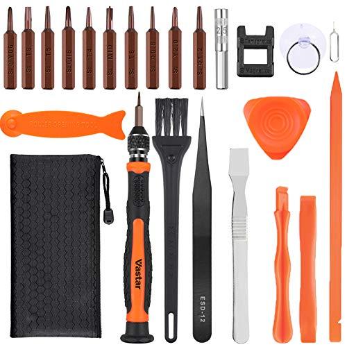 Vastar Juego de Destornilladores de Precisión - S2 Acero Destornilladores Precisión Kit de Herramientas de Reparación para iPhone 11pro/11/XR/XS/XS Max/X/Macbook/iPod/iPad-10 PC ect
