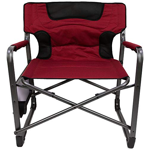 OZARK TRAIL.. XXL Folding Padded Director Chair with Side Table