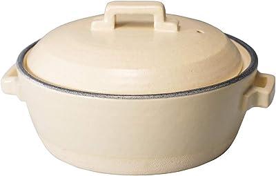 マルヨシ陶器 STYLE 土鍋 BLUE LINE IH 8号 M0231 白 2.2l 土鍋 IH対応 8号 おしゃれ M0231