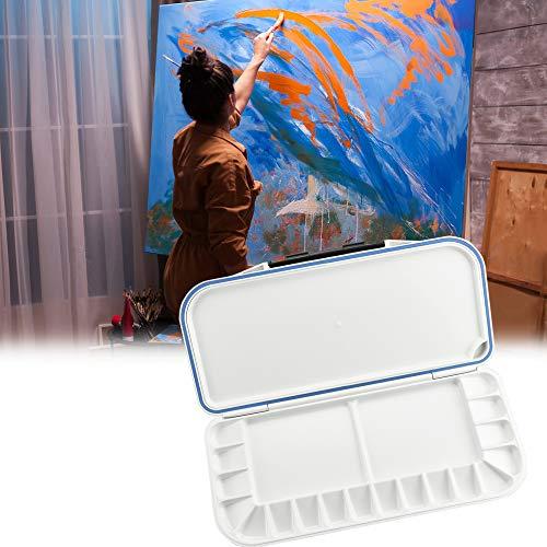 RMENOOR Mischpalette ABS Aquarell Box Keramik Künstler Palette Große Aquarell Palette Kasten Paint Case mit Zellen Artist Paint Palette zum Mischen von Farben für Aquarell, Acryl und Öl Schmerz