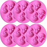 6 Pcs Halloween Candy Molds Silicone Skulls Fondant Mold DIY Chocolate Candy Molds for Home Party Chocolate Bakeware Tools