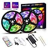 Best Strip Lights - AMBOTHER LED Strip Lights 32.8-feet Multicolor Chasing Dreamcolor Review