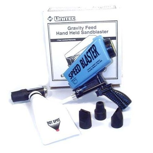 - UNITEC GRAVITY FEED HAND HELD SANDBLASTER with HOT SPOT Recovery System
