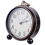 STOBOK Reloj despertador retro ruidoso vintage retro decorativo silencioso sin garrapatas de segunda mano creativo pequeño reloj de noche estudiante regalo escritorio ornamento