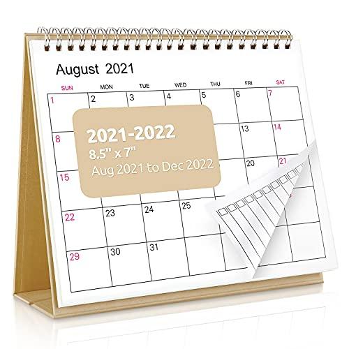 SKYDUE Small Desk Calendar 2021-2022, Stand Up Calendar, from Now to Dec 2022 as Academic Calendar, 7
